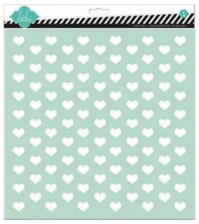 """AC Heidi Swapp Stencil 12""""x12"""" - TinyHearts"""