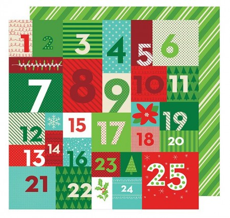 """AC All Wrapped Up Patterned Paper 12""""x12"""" - Advent"""