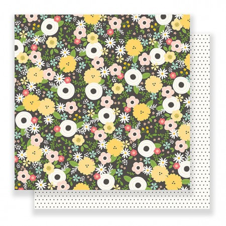 """AC Spring Fling Double-Sided Cardstock 12""""x12"""" - Chalkboard Floral"""
