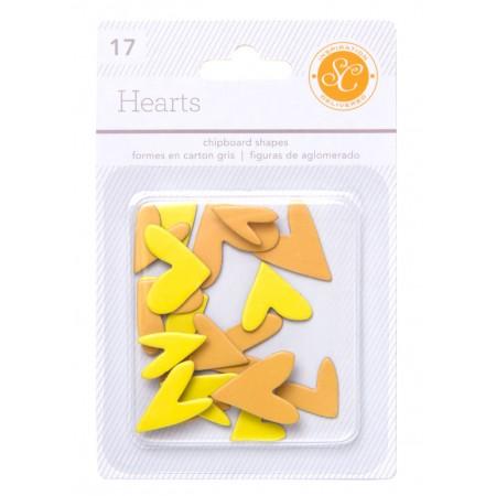 AC Essentials Chipboard - Yellow/Orange Hearts