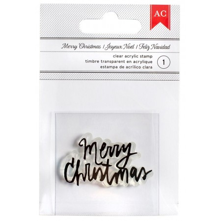 AC Merry Christmas Stamp - Fancy