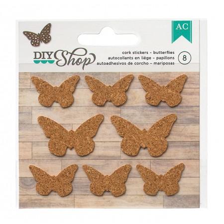AC Diy shop - butterflies cork stickers