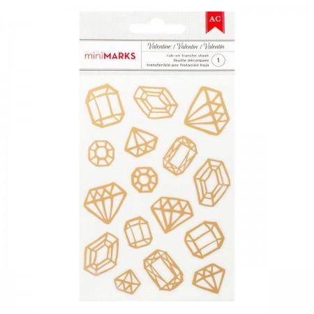 AC Valentine Rub-Ons -Gold Foil - Gems