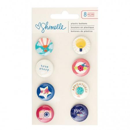 AC Starshine Flair Plastic Buttons 8/PKG