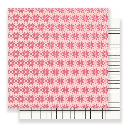 """AC Snow & Cocoa Patterned Paper 12""""x12"""" - Fallen Snow"""