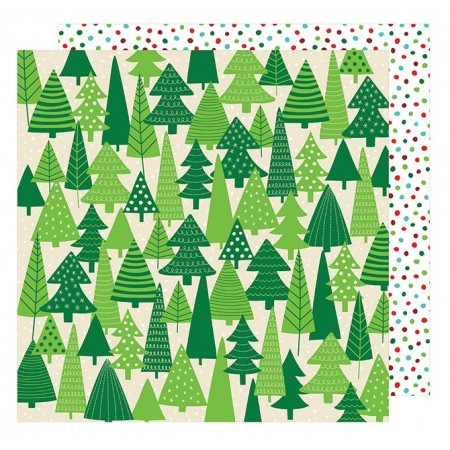 "AC All Wrapped Up Patterned Paper 12""x12"" - Evergreens"