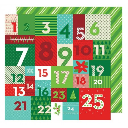 "AC All Wrapped Up Patterned Paper 12""x12"" - Advent"