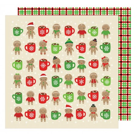 "AC All Wrapped Up Patterned Paper 12""x12"" - Hot Cocoa"