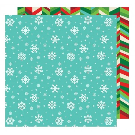 "AC All Wrapped Up Patterned Paper 12""x12"" - Snowflakes"