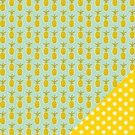 "AC Sunny Double Sided Cardstock 12""x12"" - Pineapple Days"