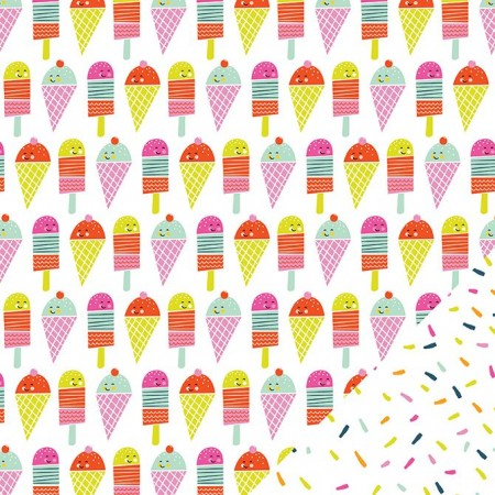 "AC Sunny Double Sided Cardstock 12""x12"" - Ice Cream Parlor"