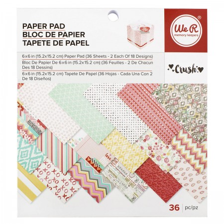 "AC Crush Patterned Paper Pad 6""x6"" 36/PKG"
