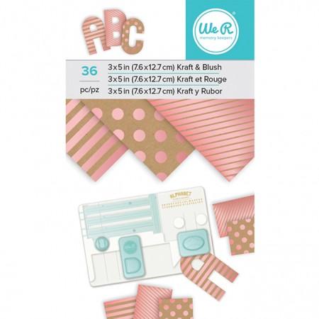 "AC Paper Pad 3""x5"" - Kraft With Blush Foil - 36 Sheets"