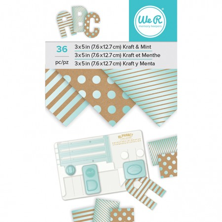 "AC Paper Pad 3""x5"" - Kraft With Mint Foil - 36 Sheets"