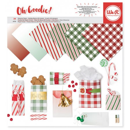 "AC Keepers Glassine Paper Pack 12""x12"" 24/PKG - Holiday"