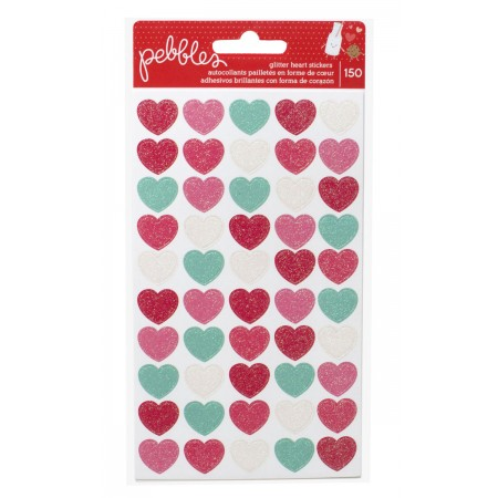AC We Go Together Stickers - Glitter Hearts 150/PKG