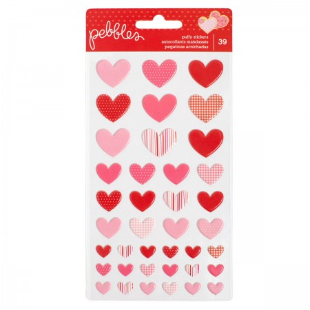 AC Be Mine Stickers - Puffy Hearts 39/PKG
