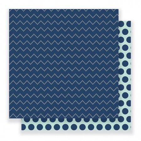 "AC Everyday Double-Sided Cardstock 12""x12"" - Dotted Chevron"