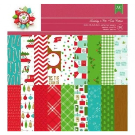 "AC Single-Sided Paper Pad 6""x6"" 36/PKG - Be Merry"