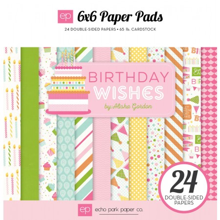EP Birthday Wishes Girl 6x6 Paper Pad