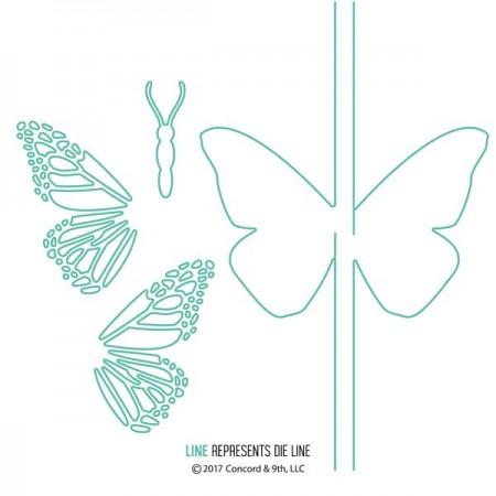 C9 Butterfly Card dies