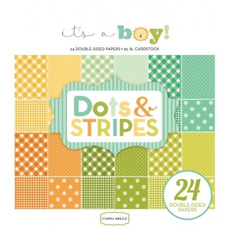 EP It's A Boy Dots & Stripes 6x6 Paper Pad