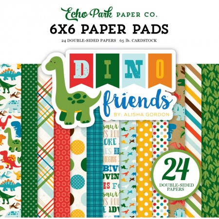 EP Dino Friends 6x6 Paper Pad