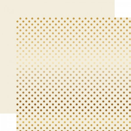 EP Christmas Gold Foil Dot - Ivory Paper 12x12