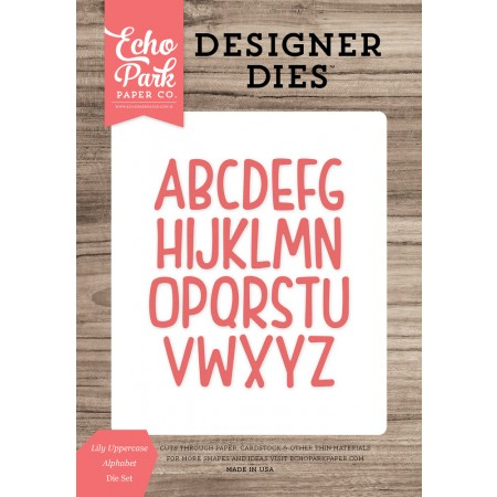 EP Lily Uppercase Alphabet Die Set