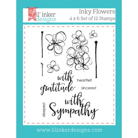 LI Inky Flowers Stamps