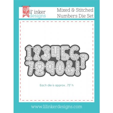 LI Mixed & Stitched Numbers Die Set