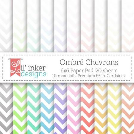 LI Ombre Chevrons Paper Pad