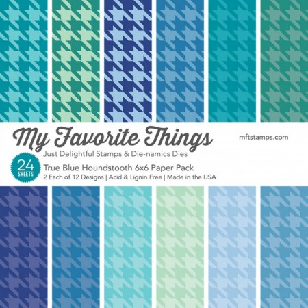 MFT True Blue Houndstooth Paper Pack