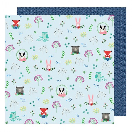 AC Little By Little Collection Forest Friends 12 x 12 Double Sided Paper