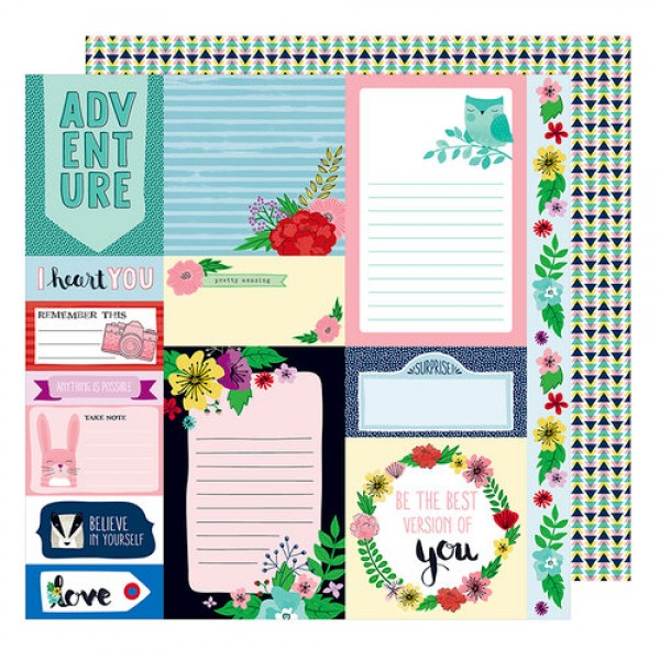 AC Little By Little Collection What a Hoot - 12 x 12 Double Sided Paper