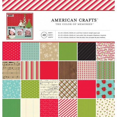 "AC Single-Sided Paper Pad 12""x12"" 48/PKG - Christmas"