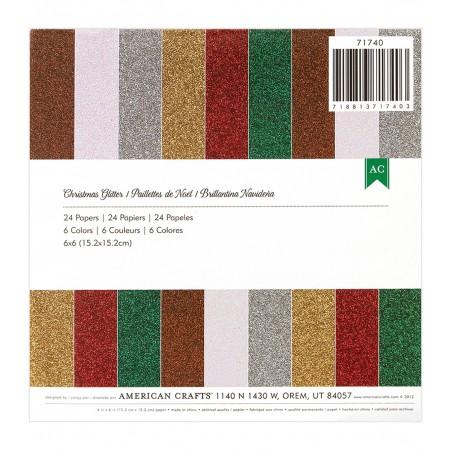 "AC Paper Pad 6""x6"" - Christmas Glitter"
