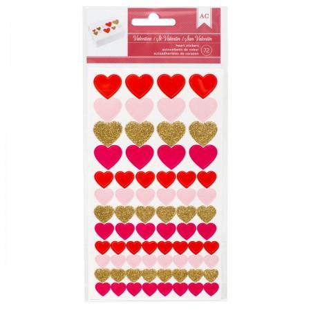 AC Valentine Heart Stickers