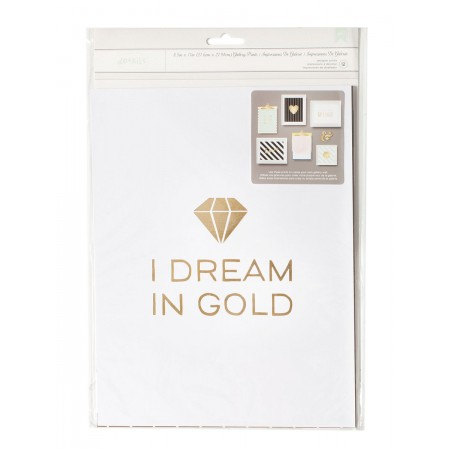 """AC Dream In Gold Gallery Wall Packs 8.5""""x11"""" 12/PKG"""