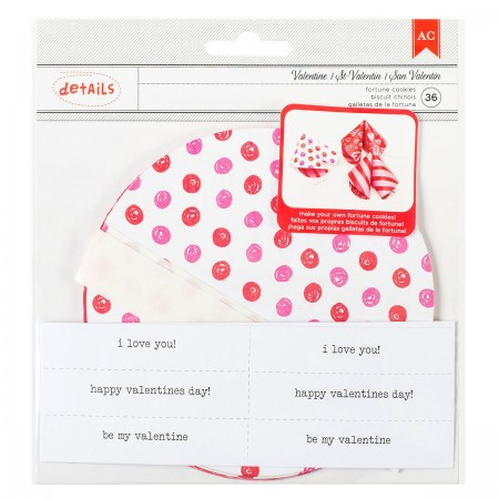 AC Valentine Paper Fortune Cookies Kit