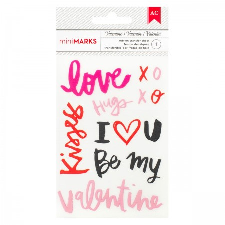 "AC Valentine Rub-Ons 3.5""x5"" - Words"