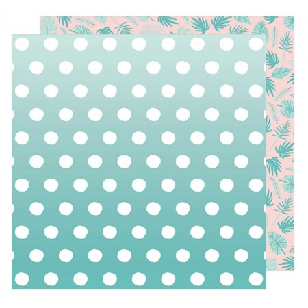 "AC Happy Place Double-Sided Cardstock 12""x12"" - Bermuda"