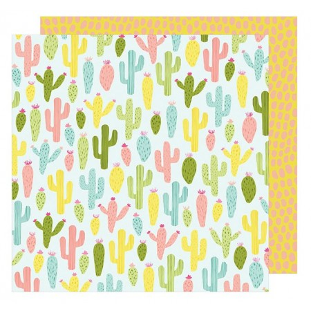 "AC Happy Place Double-Sided Cardstock 12""x12"" - Cactus Cooler"