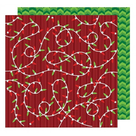 """AC All Wrapped Up Patterned Paper 12""""x12"""" - Merry and Bright"""