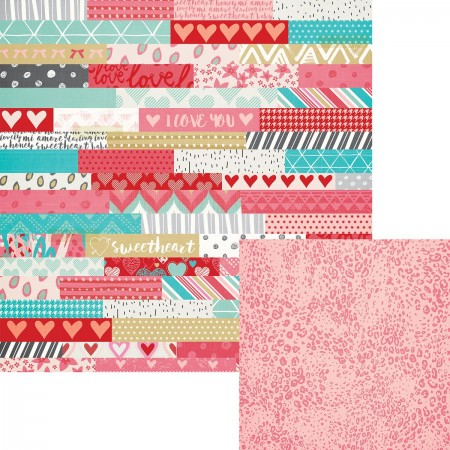 "AC Key to My Heart Patterned Paper 12""x12"""