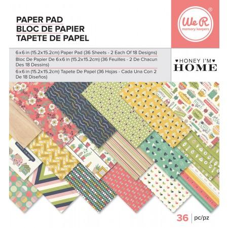 "AC Single-Sided Paper Pad 6""x6"" 36/PKG - Honey I'm Home"