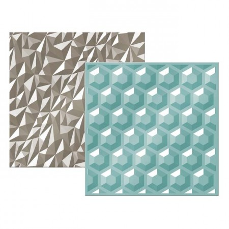 "AC Next Level Embossing Folder 6""x6"" 2/PKG - Gemstone"