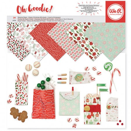 """AC Keepers Glassine Paper Pack 12""""x12"""" 24/PKG - Christmas"""