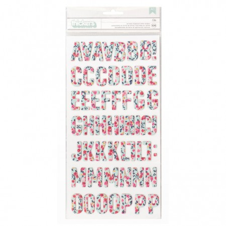 AC Thickers - pb - jh - everyday - chipboard - ella - floral (106 piece)