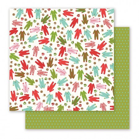 """AC Holly Jolly Double-Sided Cardstock 12""""x12"""" - Pajama Party"""